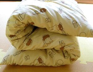 木綿のお昼寝布団はとってもふかふか♪干せばふくらみが戻ります。