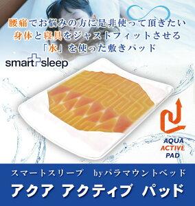 競泳日本代表選手も愛用している「水」を使った敷きパッド「アクア アクティブパッド」は腰痛・...