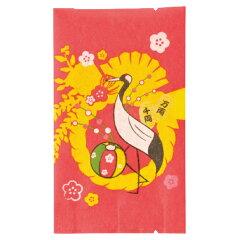 【お正月 直前30%OFF】バリア袋 しめ飾り 200枚セット【おめでたい鶴・毬・しめ飾りデザ…