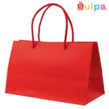 ■【クリスマス】手提げ紙袋 ペーパーギフトバッグ(茶) ワイドM 10枚セット 【紙袋】