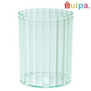 【日本製】PS68-270インライン容器グリーン10個【ストライプ縦縞デザートカッププリンカッププリン型プラスチック容器カップ】