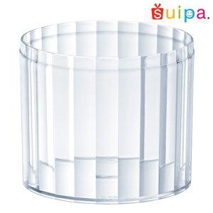 【日本製】PS68-180インライン容器本体N10個【ストライプ縦縞デザートカッププリンカッププリン型プラスチック容器クッキー容器カップ】【背が低い新タイプ】【蓋別売】