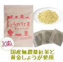 『しょうが紅茶ティーバッグ』3g×30袋 ★無農薬栽培国産紅茶と鹿児島県産黄金しょうが使用の生姜紅茶ティーバッグ【無添加】水車むら…