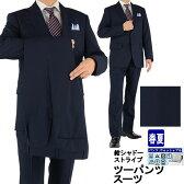 ツーパンツスーツ メンズスーツ 2パンツ 紺 シャドー ストライプ クールマックス レギュラーツーパンツスーツ パンツ2本 春夏スーツ パンツウォッシャブル 1R6965-21