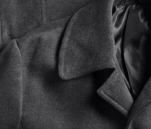 カシミヤタッチポリエステル起毛素材半キルティングステンカラーコート(メンズコートビジネスコートブラック黒グレーチャコールハーフコート裏地キルティング通勤コート)【送料無料】05P03Dec16