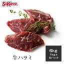 【送料無料】冷凍牛ハラミ 約6kg(約1