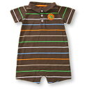 カーターズ ロンパース Carter's 新品アウトレット ブラウンポロシャツ