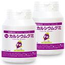成長サプリ カルシウムグミFe グレープ味 2箱セット 60日分 伸び盛りの子供 身長 健康 小食 偏食に理想的な栄養補給 鉄分 BCAA 植物性乳酸菌プラス