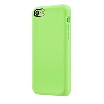 スマホケース カバー iPhone5c SwitchEasy グリーン 緑 ジャケット シリコン ソフト マイクロファイバークロス スクリーン保護フィルム SwitchEasy iPhone 5c用シリコンケース Colors for iPhone 5c Green グリーン SW-COL5C-GN