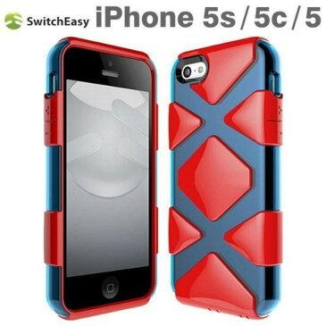 スマホケース カバー iPhoneSE(第一世代) 5 5s SwitchEasy レッド 赤 ジャケット スクリーン保護フィルム マイクロファイバークロス HERO ハイブリッド Justice Red