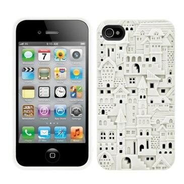 スマホケース カバー iPhone4 4s SwitchEasy ホワイト 白 ジャケット ポリカーボネート 帯電防止加工スクリーン保護フィルム(2枚) イヤホンジャックプロテクター(2個) マイクロファイバークロス ハード Avant-garde Chateau SW-CHA4S-W