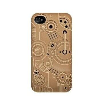スマホケース カバー iPhone4 4s SwitchEasy ゴールド ブラウン 金 ブラウン ジャケット ポリカーボネート 帯電防止加工スクリーン保護フィルム(2枚) マイクロファイバークロス スクリーンスクイージー ハード Bronze Avant-garde Clockwork SW-CW4S-BZ