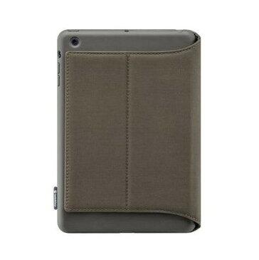 タブレットケース カバー iPad mini 第1世代 SwitchEasy チャコール グレー 灰色 手帳型 フリップ ポリカーボネート 帯電防止スクリーン保護フィルム(正面1枚 マイクロファイバークロス キャンパス素材ケース チャコール CANVAS Charcoal SW-CANPM-CHA