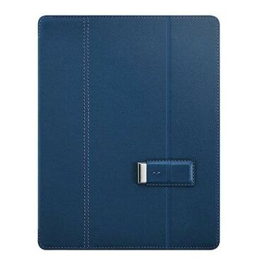 タブレットケース カバー iPad 3 2 SwitchEasy ブルー 青 手帳型 フリップ ポリカーボネート ポリウレタンレザー 帯電防止スクリーン保護フィルム Dockコネクタプロテクター(2個) マイクロファイバー製クリーニングクロス Pelle Monday Blue