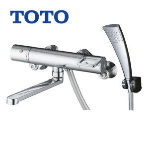 [TMGG40ECR]TOTO 浴室水栓 シャワー水栓 GGシリーズ サーモスタットシャワー金具(壁付きタイプ) シャワーヘッド:エアインめっき リングハンドル 【送料無料】 混合水栓 浴室用 蛇口 壁付タイ