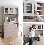 食器棚90cm幅90レンジ台キッチン収納キッチンキャビネットキッチンボードチェストキッチンラック収納棚新生活