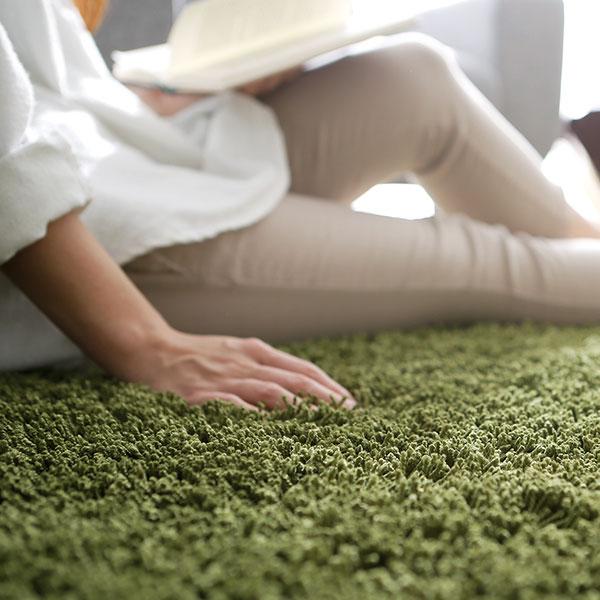 ラグマット ラグ 200×250 長方形 205×205 正方形 カーペット シャギーラグ ホットカーペット対応 厚手 夏 夏用 洗える 滑り止め 絨毯 じゅうたん 北欧家具と相性◎ MOCOA