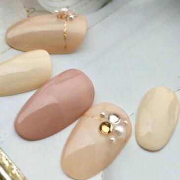 ネイルチップ|スモーキーピンク・ベージュブライダルネイル短い爪ベリーショートからロングチップのつけ爪選べるサイズでぴったりネイルジェルネイルでワンランク上のチップを是非!シンプルなデイリー・オフィスデザインネイル!