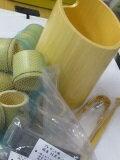 竹製氷入れ、民芸アイスペールタケマドラー、竹トング、竹猪口10ケ付、浄水竹炭5枚付楽天仕様