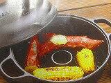 みよちゃんの焼きいも鍋、内24cm深さ7.5cm全高14cm焼きいも屋さんのお味をおうちで、南部鉄突起が石の役割美味しい焼き芋が出来ます