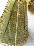そば水切り、てぼ、全19cmにざるインテリアや花入れ等に、竹製は今は珍しいです。好きな物を入れて飾りに!