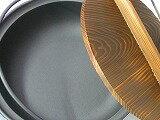 南部鉄鍋、お国自慢鍋 24cm、つる付 国産浄水竹炭5枚