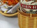 和の竹籠ビール瓶ホルダー和のおもてなし、、竹炭5枚付