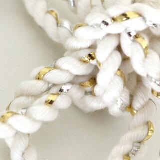 花結びねじり髪飾り(完成型)カラー:白ラメ少々[祭り衣装お祭り衣装祭り衣装祭り用品鉢巻きはちまきねじりはちまき花ねじり鉢巻き髪飾りねじり紐ねじりひも祭髪型紐ねじり棒アレンジ]