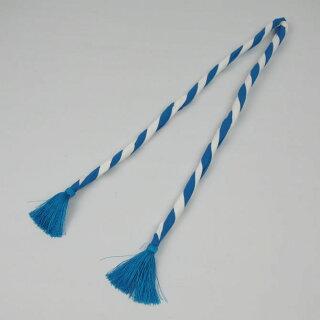 <メール便対象>お祭り用品ねじりはちまき中芯入り子供用青/白直径約11mm