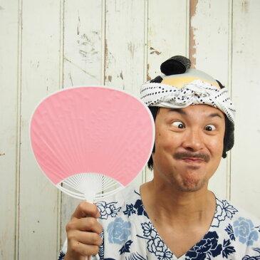 ポリうちわ(全長:約34.5cm) ピンク [ 祭り用品 お祭り用品 団扇 祭り うちわ 無地 ウチワ 桃色 matsuri Paper fan Japanese fan uchiwa ]