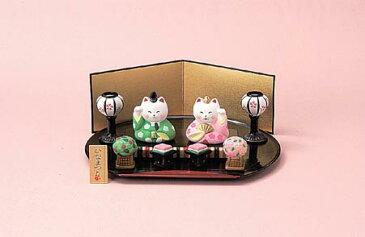 【楽ギフ_包装】【楽ギフ_のし宛書】ミニ雛人形 ねこの雛祭り揃い