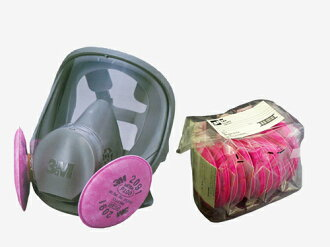 Dust masks 3 M (3 m) 6000F/2091-RL3 replace type respirators (full icosahedral)&No.2091 filtration material 6 pieces set