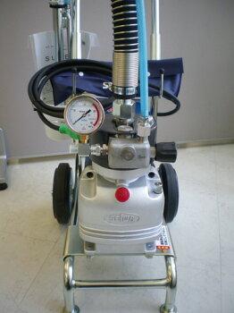 精和産業ダイヤフラム式エアレス塗装機電動エアレススーパー60DXホッパー仕様(ターンクリーンチップ・エアレスガン・ホース30M付)清掃簡単低飛散