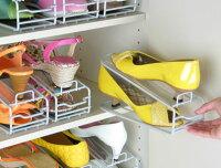 [えつこの楽々靴っこ6個組<シルバー>]サンダルやミュールの収納にも。