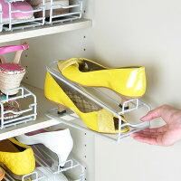 [えつこの楽々靴っこ<シルバー>]婦人靴収納使用例