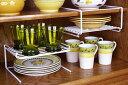 [えつこのペアスタックラック 2個組]収納 キッチン 食器棚 カップ お皿 ホワイト 日本製