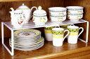 [えつこのスライドフリーラック<プレート付>] 収納 キッチン 食器棚 キャビネット カップ お皿 地震対策 ホワイト 日本製