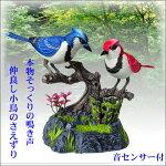 鳥 音センサー 鳴く鳥 インテリア 玩具 音が出るおもちゃ 置物 プレゼント 動く鳥 ツインバード 鳥さえずり 癒し 玄関 ※動画有り