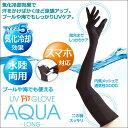 熱中症対策 アームカバー UV手袋 気化冷却 日焼け止め UVカット 紫外線対策 スマホ対応 腕カバー 冷感 ガーデニング アルファックス UVグローブアクアロング
