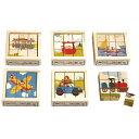 パズル 学習トイ アトリエフィッシャー 六面体パズル・9pcs・のりもの AF904 知育パズル 知育玩具 知育 パズル 立体 立体パズル ジグソーパズル 幼児 木製 おもちゃ 木のおもちゃ 2歳 3歳 4歳 5歳 木製パズル 子供 誕生日