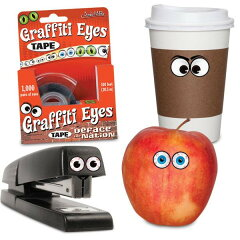 1,000対以上の目玉がテープになったミニテープ。アクータメンツ Accoutrements Graffiti Eyes ...