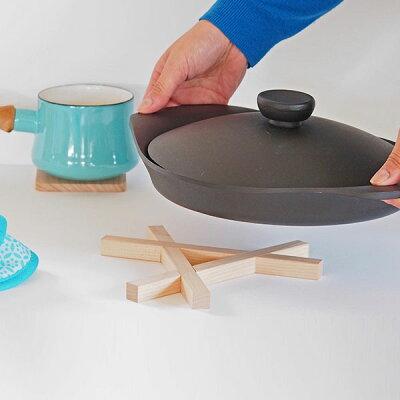 組み木鍋敷き