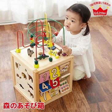 森のあそび箱 4941746806487 エド・インター 誕生日 出産祝い 赤ちゃん ベビー キッズ 木製玩具 1歳 2歳 3歳 ままごと パズル 木琴 知育玩具