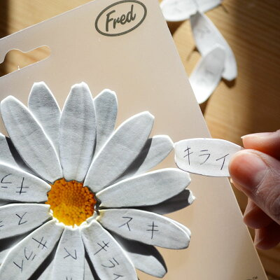 忘れ名草の花言葉をモチーフにしたかわいいメモフレッド Forget-Me-Note(花びらの付護) FRE-F...