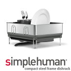 シンプルヒューマン コンパクトスチールフレーム ディッシュラック シルバー simplehuman KT1179 00150 送料無料 水切りラック