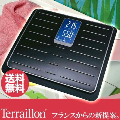 Terraillon(テライヨン)体組成計TFACileo(シレオ)ブラック&クロムTBS801CR