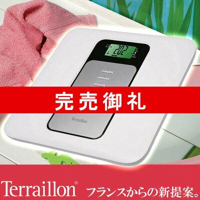 Terraillon(テライヨン)BMI(肥満度)測定機能付き体重計FBCAlteo(アルテオ)ホワイトTBS804WT
