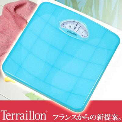 Terraillon(テライヨン)カラーシリーズCLASSIC体重計TW98アクアブルーTBS851BL