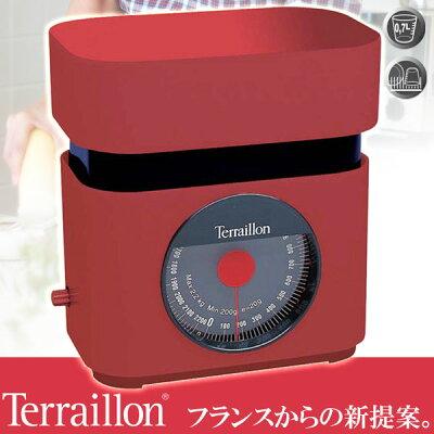 Terraillon(テライヨン)キッチンスケールBA22レッドTKS750RD
