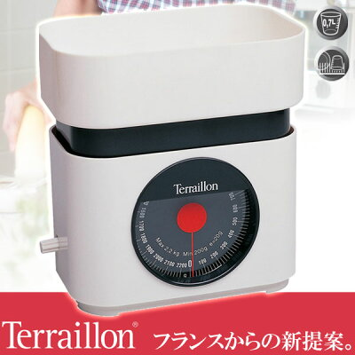 Terraillon(テライヨン)キッチンスケールBA22ホワイトTKS750WT